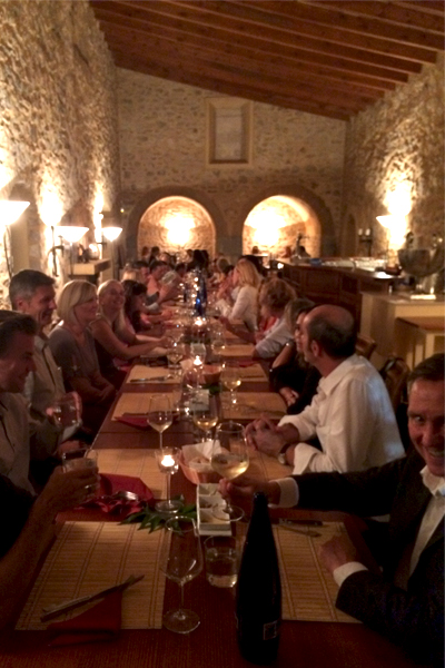 Group dinner in Carrossa.