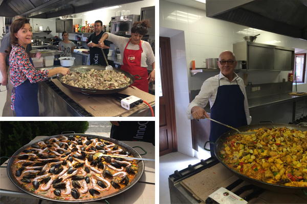 A living network: To end the event, participants cooked an original Spanish paella together.