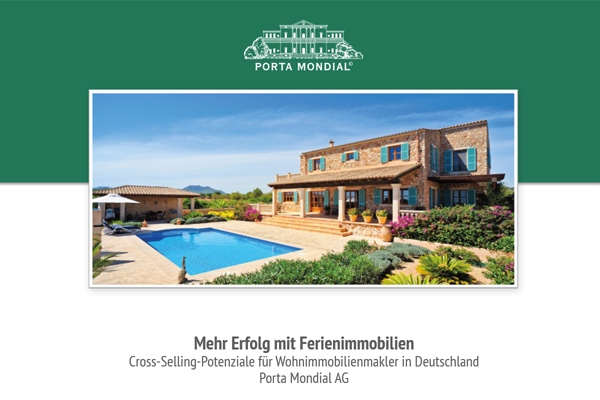 More success with holiday properties. Cross-selling potential for residentialreal estate brokers in Germany. Porta Mondial AG